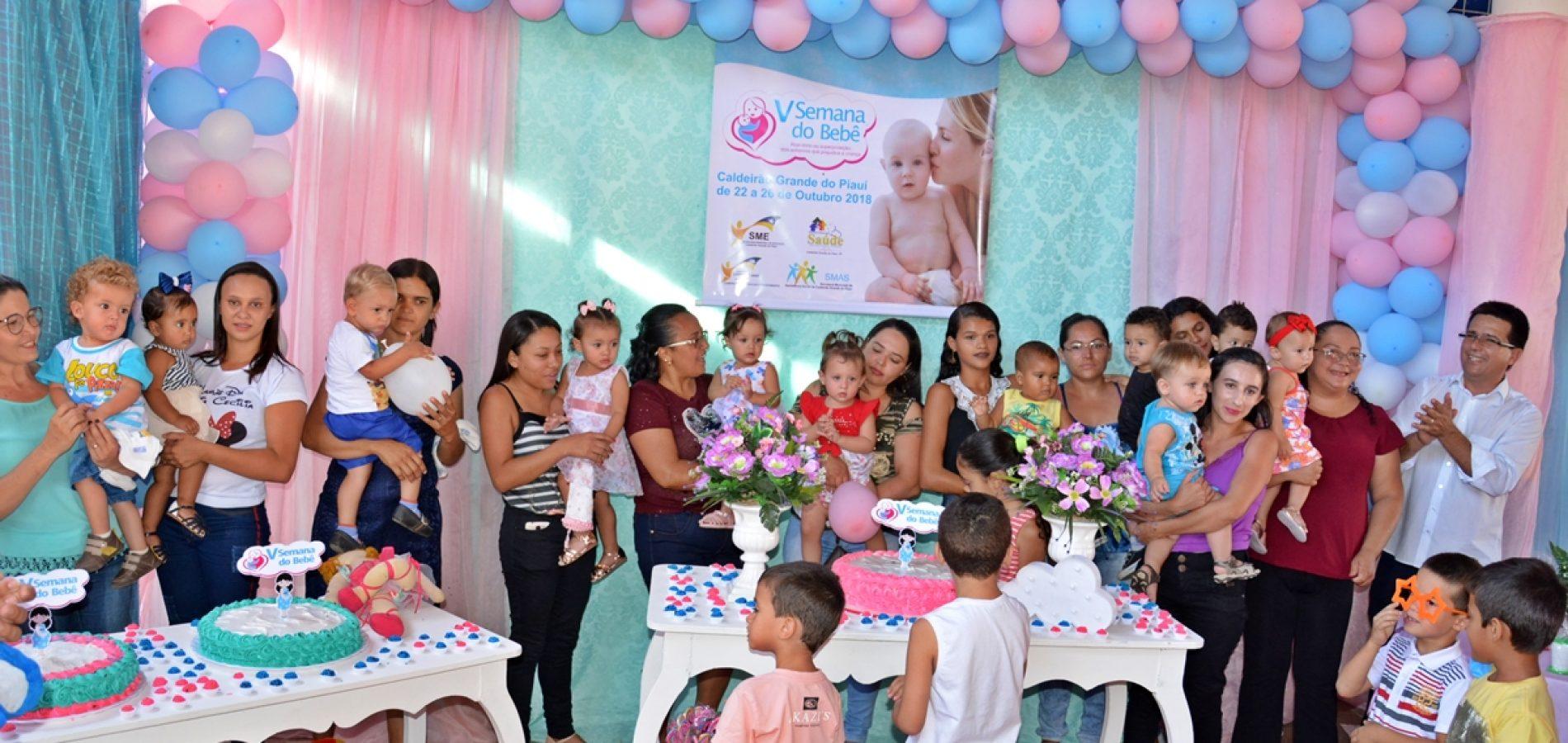 Semana do Bebê fortalece cuidados com a primeira infância em Caldeirão Grande do Piauí