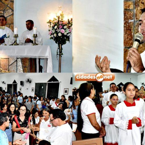 SÃO JULIÃO | Novena e missa marcam a 1ª noite do 145º Festejo de Nossa Senhora da Conceição; fotos