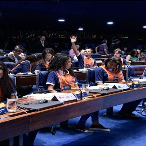 Jovens senadores aprovam três sugestões de projetos de lei