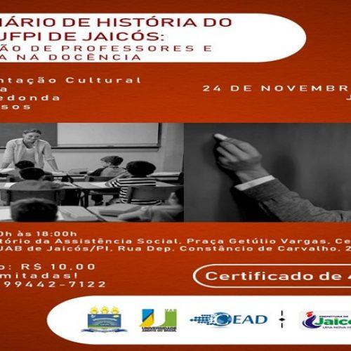 Polo da UAB de Jaicós realizará o I Seminário de História