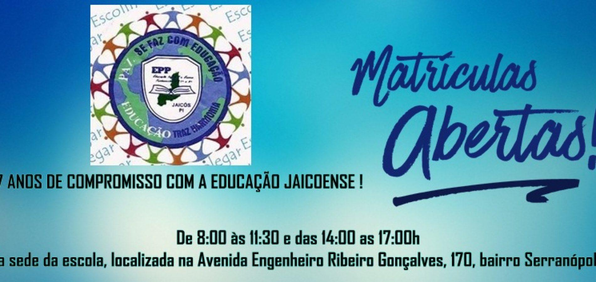 JAICÓS   Escola Pequeno Polegar está com matrículas abertas e realizará Feirão do Livro no dia 06
