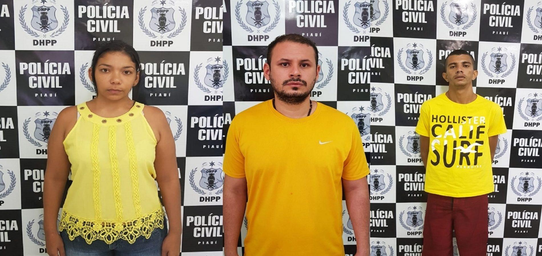 DHPP prende trio acusado de dois homicídios no Piauí