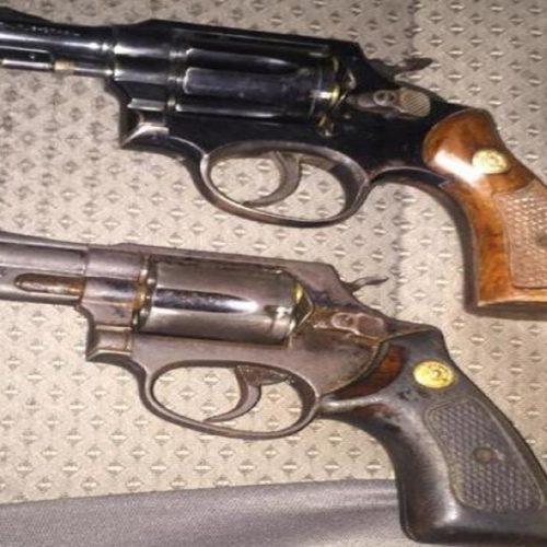 PM faz a apreensão de dois revólveres calibre 38 em São Luís do Piauí