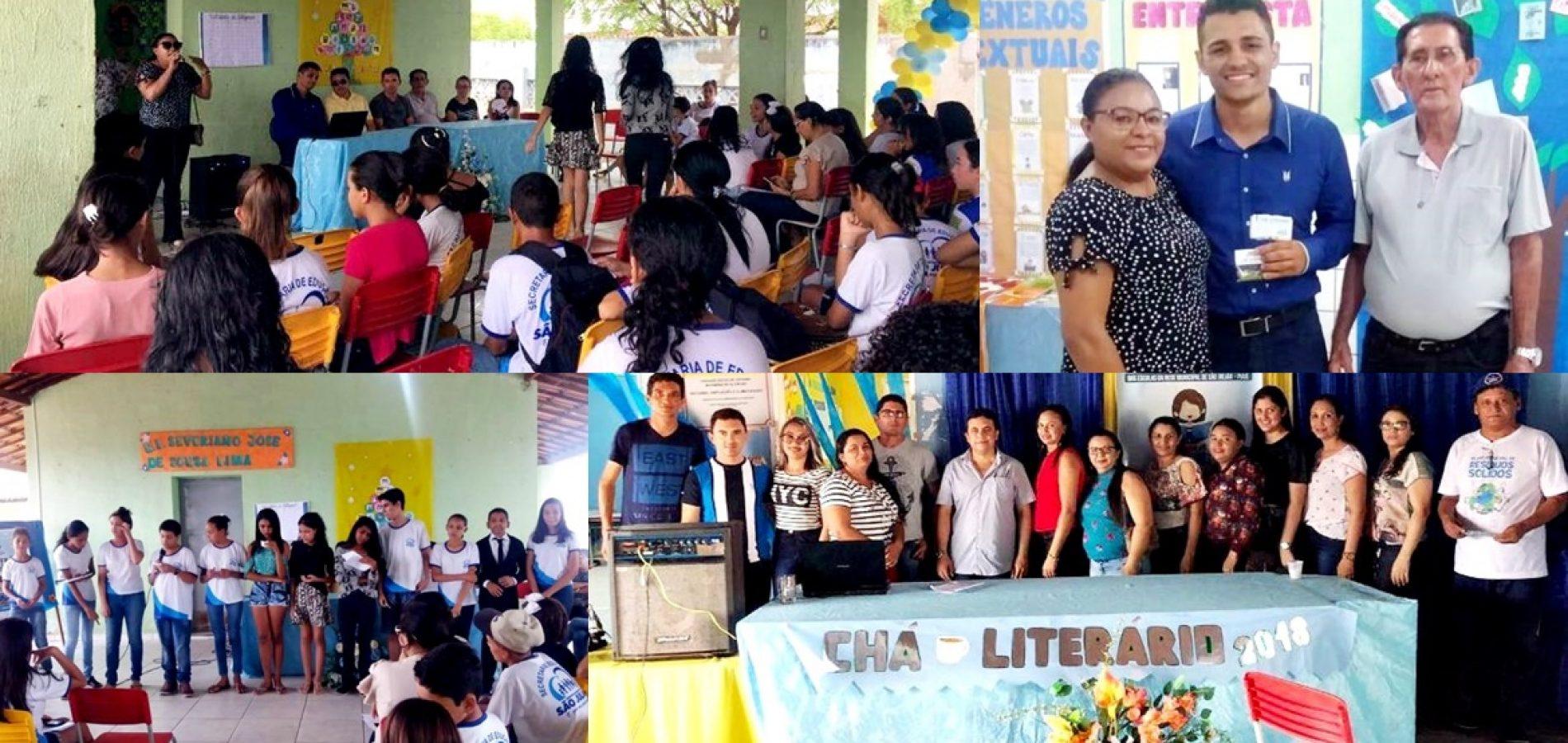 Escolas da Rede Municipal de São Julião promovem 1º Chá Literário; fotos