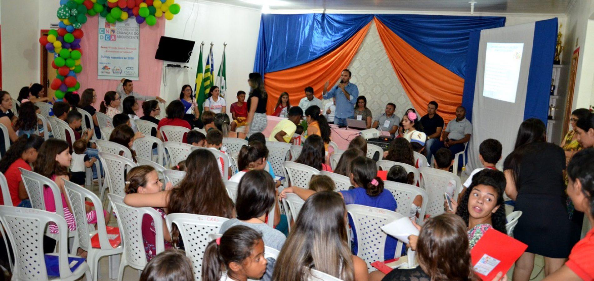 Conferência discute sobre a garantia de diretos de crianças e adolescentes em Jacobina do Piauí