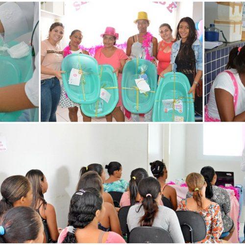 Gestantes são orientadas durante a Semana do Bebê em Massapê do Piauí