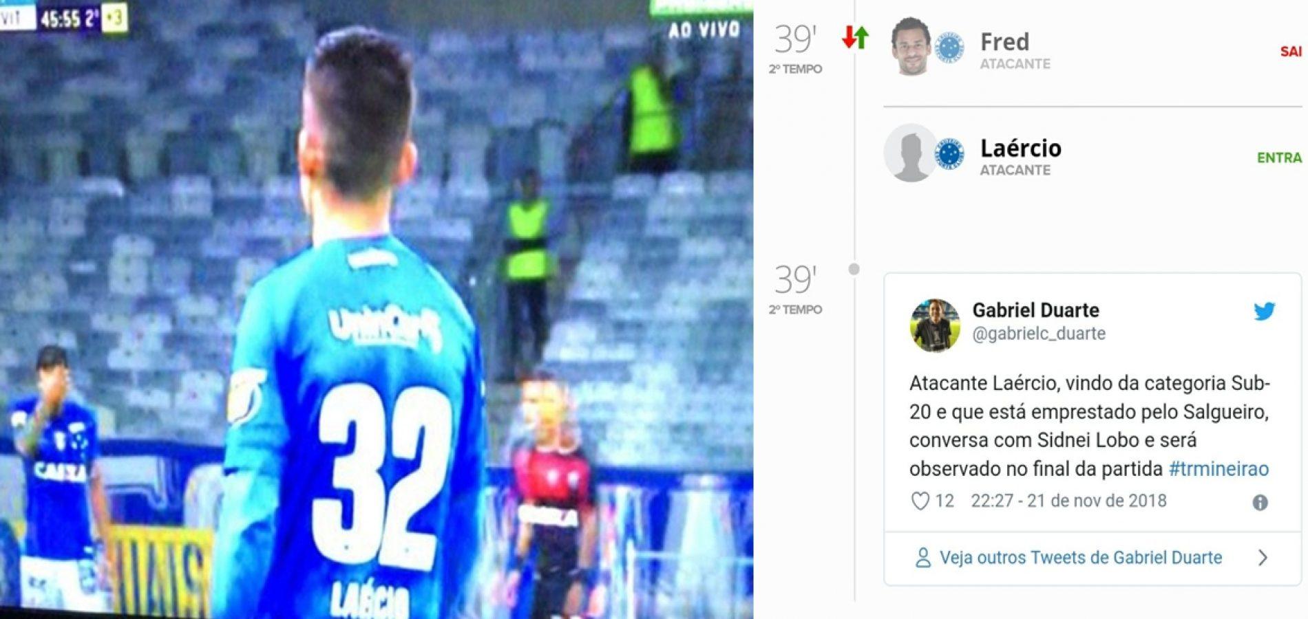 Jogador de Simões Piauí entra no lugar de Fred e Cruzeiro vence por 3 a 0