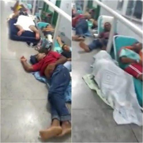 Pacientes e acompanhantes dormem no chão em hospital no Sul do Piauí; veja vídeo