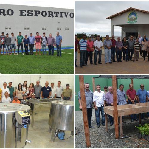 """Simões é contemplado com obras de impacto social. """"Nosso município tem avançado muito"""", diz prefeito"""