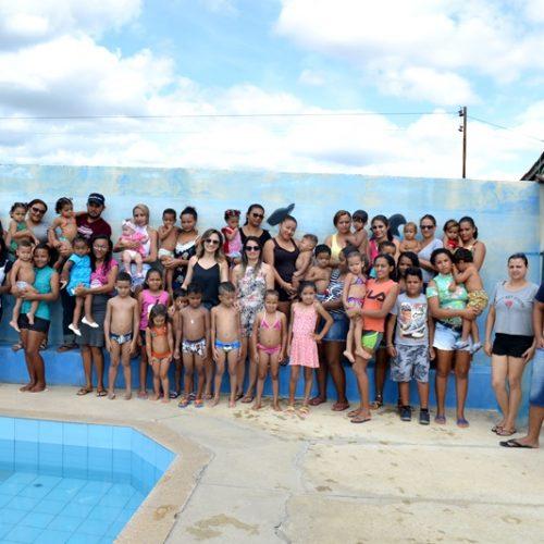 FOTOS   Social promove lazer para beneficiários do Criança Feliz em Campo Grande do PI