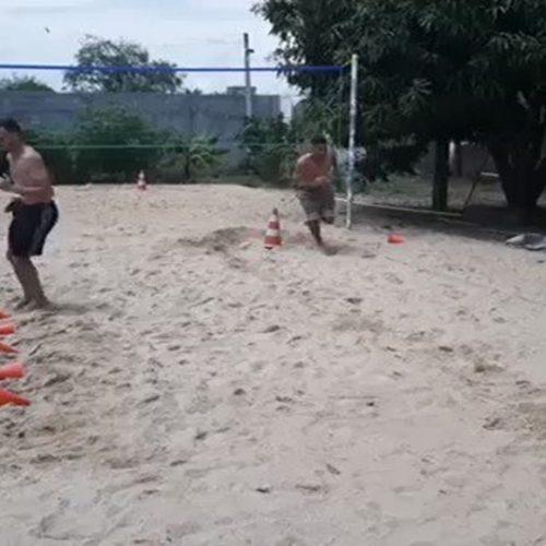 De férias em Picos, Rômulo e Renê do Flamengo treinam em pleno domingo