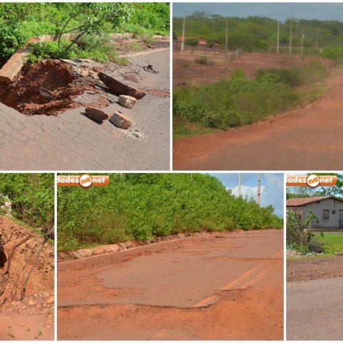 Crateras se abrem na PI que liga Picos a Itainópolis e aumenta os riscos para motoristas