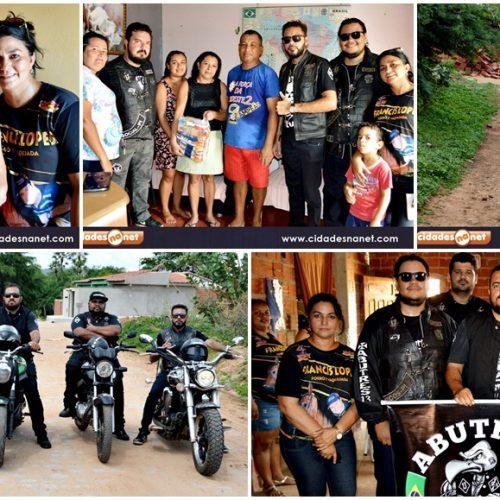 PICOS | Moto Clube Abutre`s distribui cestas básicas para famílias carentes; veja fotos