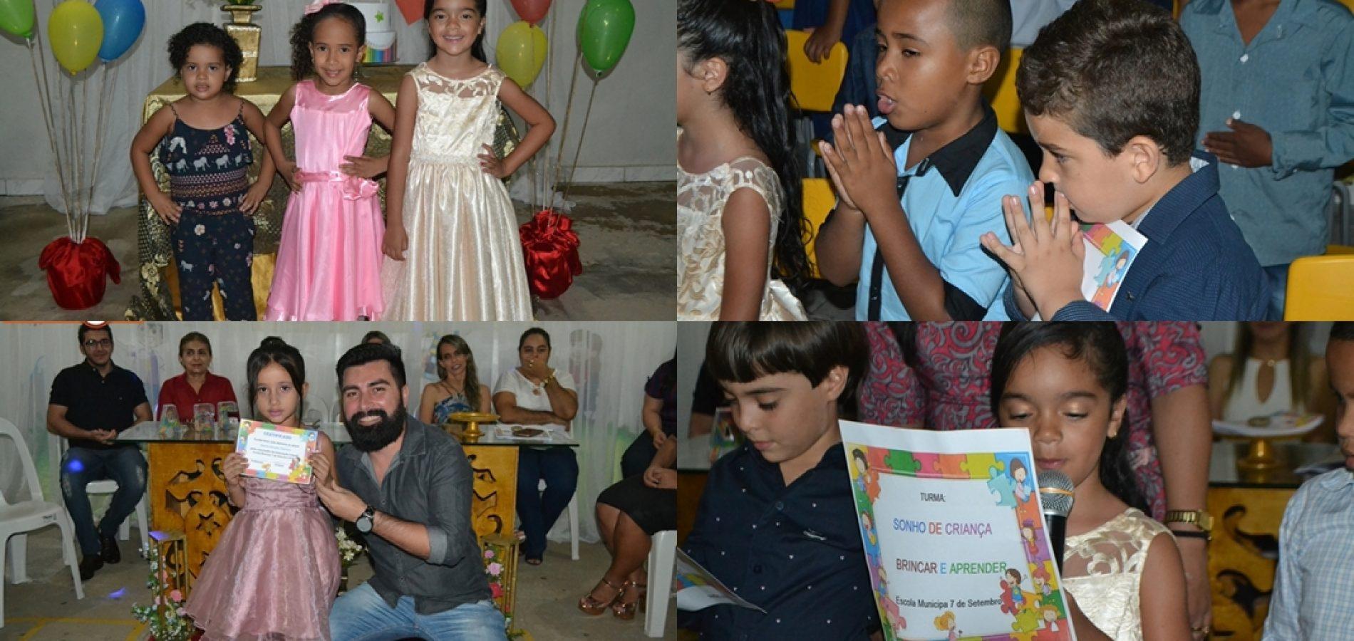 FOTOS   Colação de Grau de 58 alunos do ABC na Escola 7 de Setembro em Simões