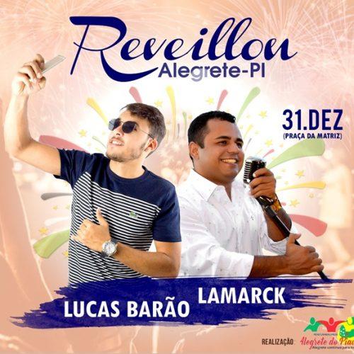 Festa de Réveillon acontece nesta segunda-feira (31) com grandes shows em Alegrete do Piauí