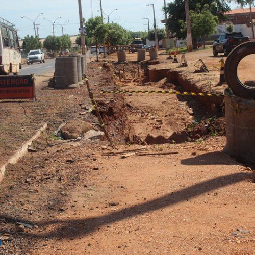 Comerciantes contabilizam prejuízos causados pela obra de drenagem em Picos
