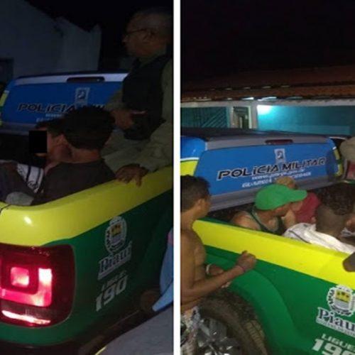 Homens são presos e adolescentes apreendidos em assalto no Piauí