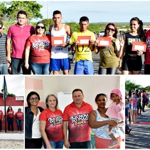 Maratonas, ato cívico e 'Dia de Beleza' marcam 3º dia do aniversário de Vila Nova do PI; fotos