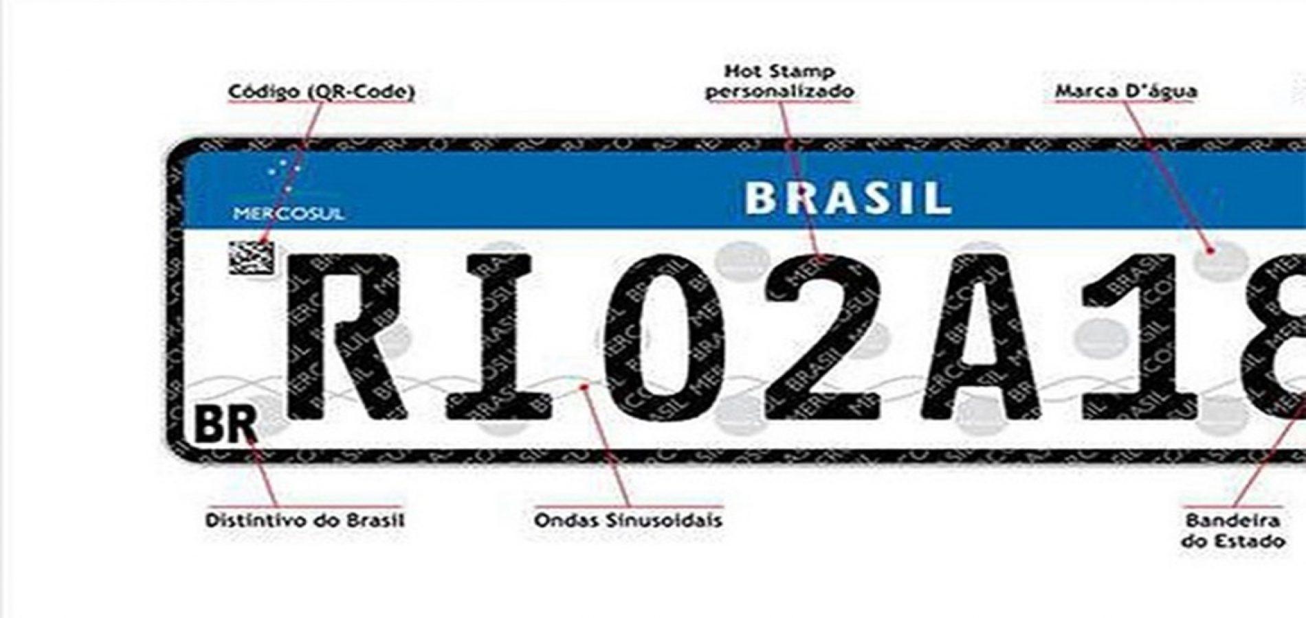 Piauí tem até junho de 2019 para mudar placas de veículos