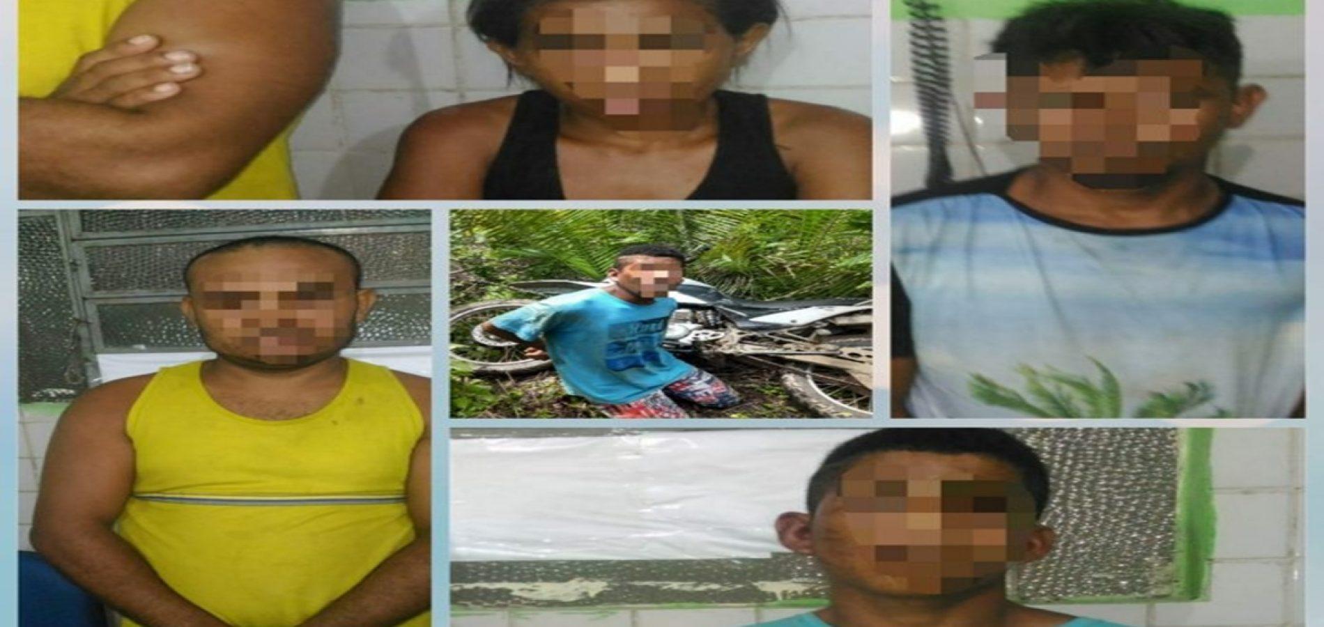 Operação policial prende 5 acusados por roubos no Piauí