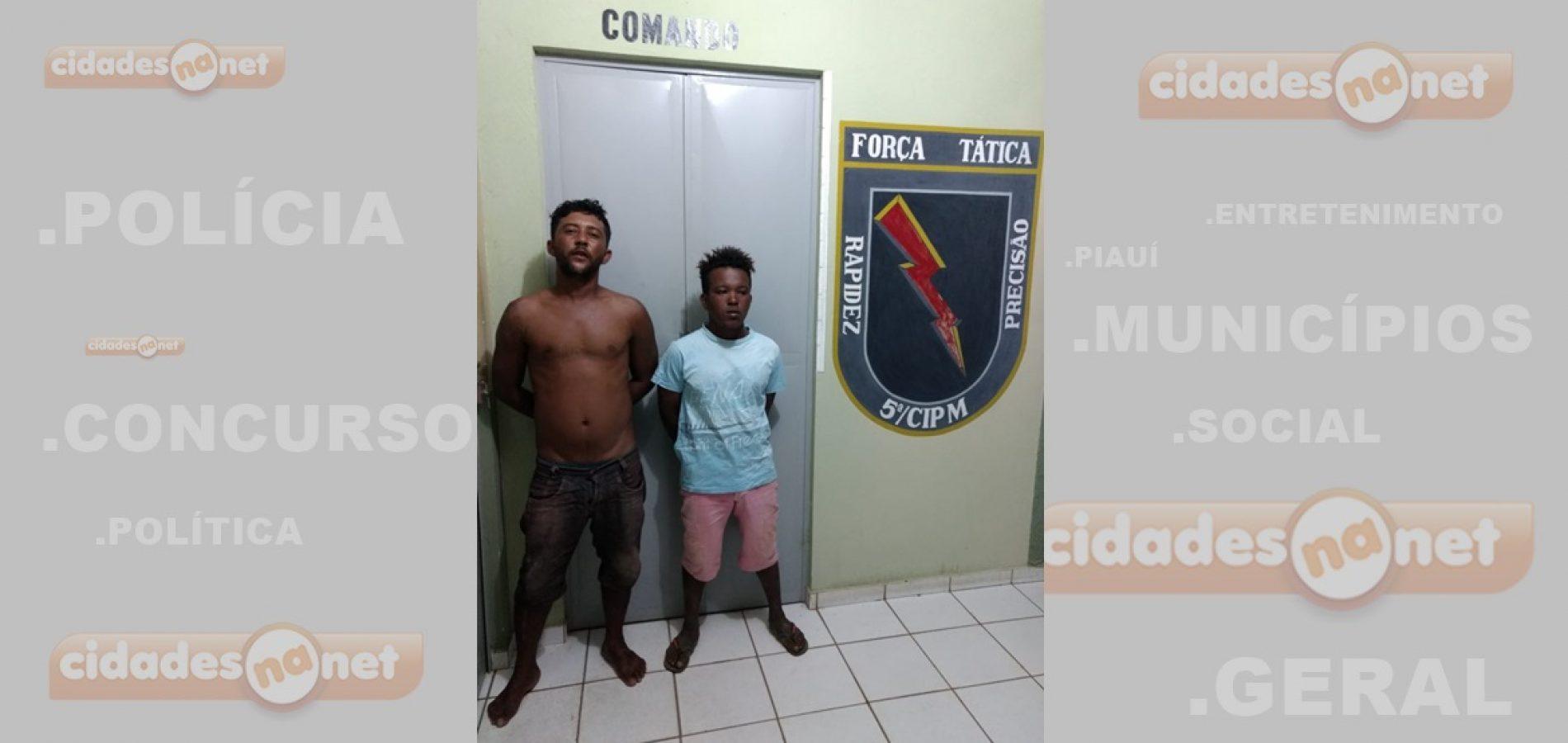 Força Tática de Paulistana prende dupla após tentativa de homicídio em bar