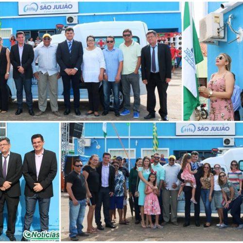SÃO JULIÃO 58 ANOS | Alvorada, Ato Cívico, entrega de ambulância e materiais ortopédicos marcam 3º dia de eventos