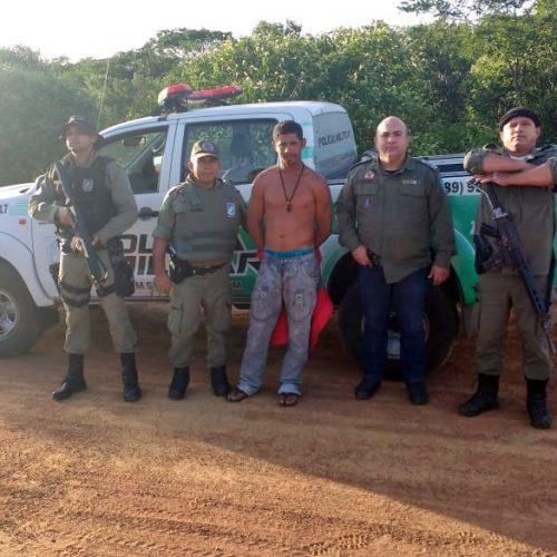 Considerado perigoso, 'Barrão' é capturado pela Polícia Militar no interior de Caridade do Piauí