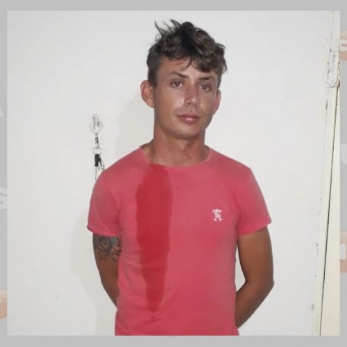 Vendedor assalta mulher em Jacobina e é preso em praça de Caridade do Piauí