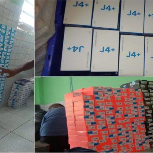 Polícia apreende 860 celulares e 3 mil chips roubados de depósito de loja escondidos em sítio