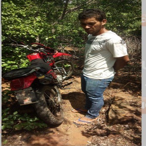 Acusado de furtar motocicleta é preso na zona rural de Simplício Mendes