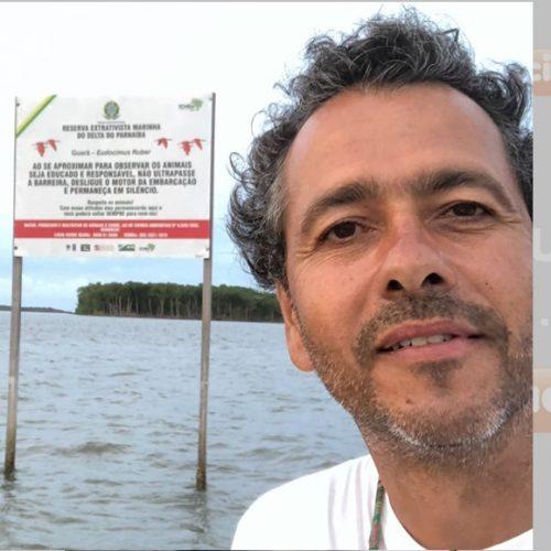 Ator global Marcos Palmeira visita litoral do Piauí durante férias