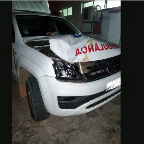 Ambulância de Jaicós se envolve em acidente na BR 407