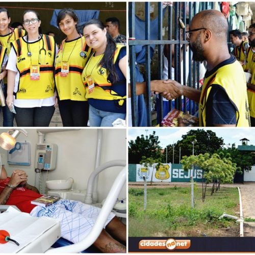PICOS│Projeto Impacto Sertão Livre realiza atendimento médico, odontológico e religioso na Penitenciária Masculina