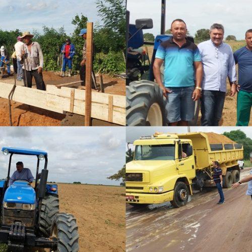 SIMÕES | Prefeito Zé Ulisses visita obras na zona rural do município