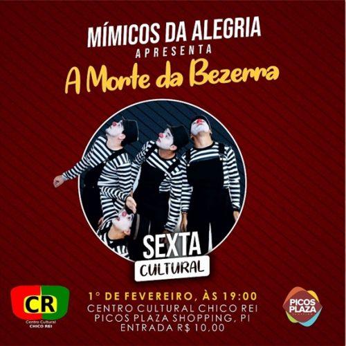 """Grupo Cultural Adimó realizará o evento """"Sexta Cultura"""" em fevereiro"""