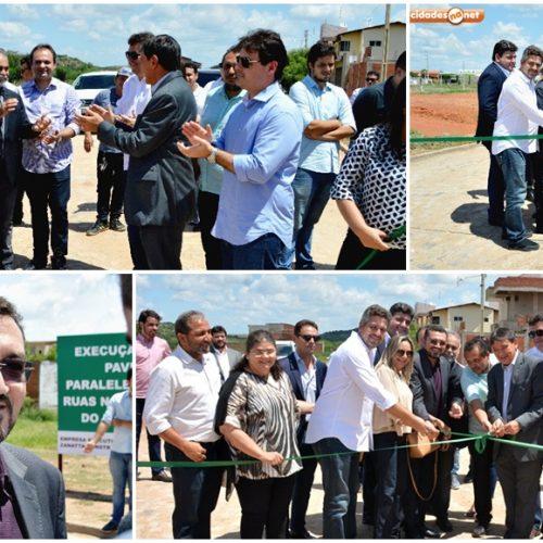 Obra de pavimentação poliédrica é inaugurada em Picos