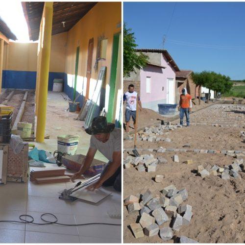 Prefeito Ademarvisita obras em andamento em Belém do Piauí