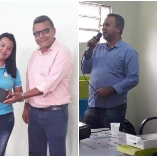 Prefeito de Marcolândia realiza entrega de tablets para Agentes de Saúde