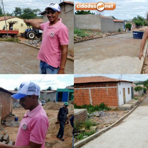 Prefeito Junior de Abel visita obras em andamento na cidade e afirma que Curral Novo voltou ao desenvolvimento