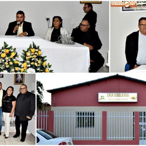 Vereador Francisco Lázaro é eleito e empossado presidente da Câmara Municipal de Francisco Macedo