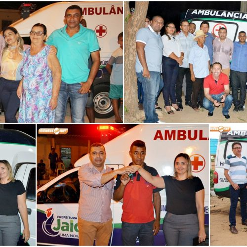 JAICÓS | Prefeito Neném de Edite entrega ambulâncias para os povoados Esquisito e Várzea Queimada