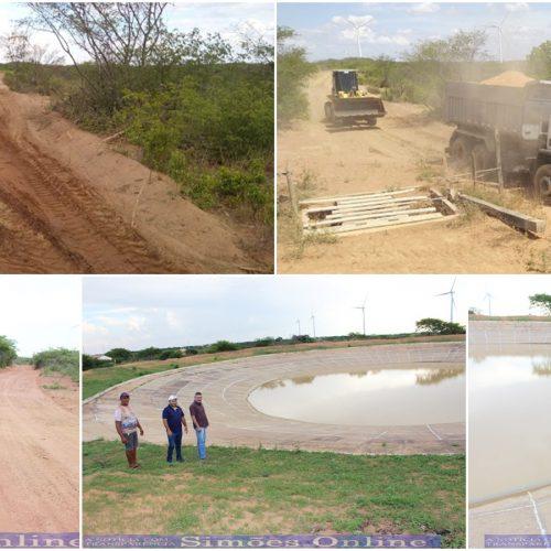 SIMÕES | Prefeitura realiza reparos em barreiro e recupera estradas na zona rural