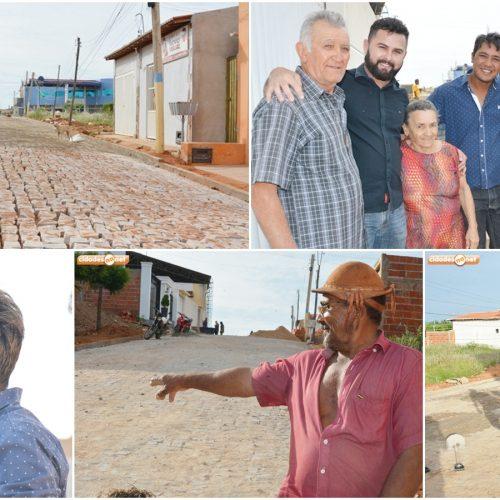 Prefeitura investe em pavimentação de ruas e melhora qualidade de vida de moradores em Jacobina do Piauí