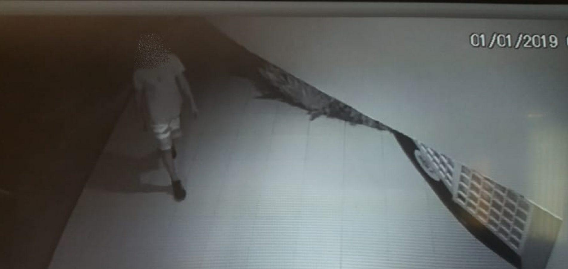 Bandido arromba e furta comércio no Centro de Jaicós; câmeras flagram a ação. Veja vídeo!
