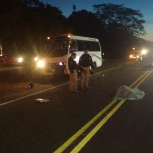 Idoso morre após ser atropelado por ônibus na BR-343