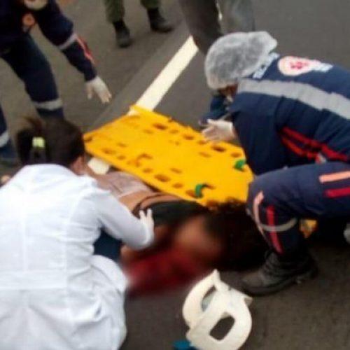 Jovem morre após ser atropelada por veículo, em grave acidente na BR-316