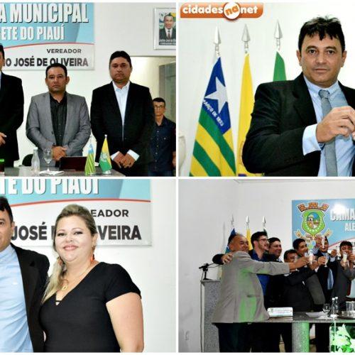 Constâncio Ramos toma posse como presidente da Câmara de Vereadores de Alegrete do Piauí
