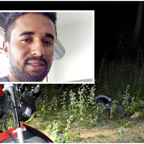 Homem morre em acidente de moto na BR 316, entre Francisco Macedo e Alegrete; fotos