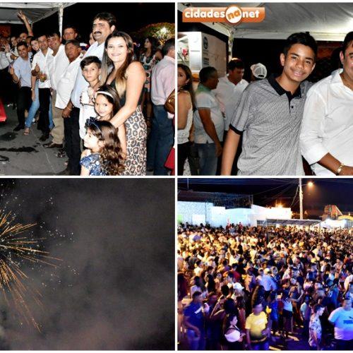 Festa de Réveillon dá as boas-vindas a 2019 com shows, fogos e uma multidão em Alegrete do Piauí
