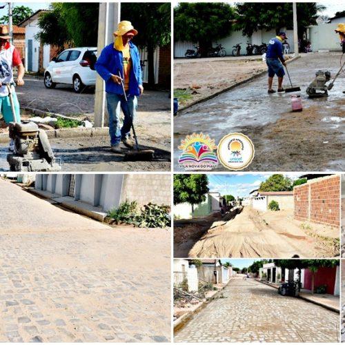 VILA NOVA   Prefeito Edilson Brito investe recursos do IPTU em pavimentação de ruas. Veja!